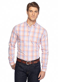 Saddlebred® 1888 Long-Sleeve Tailored Poplin Plaid Shirt