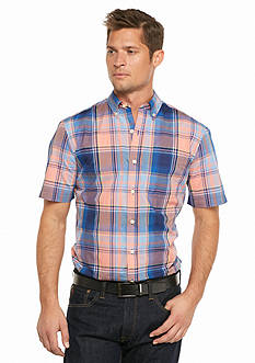 Saddlebred® Short Sleeve Plaid Woven Shirt