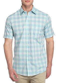 Saddlebred Short Sleeve Wrinkle Free Plaid Shirt