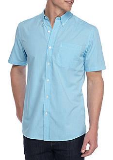 Saddlebred Short Sleeve Easy Care Mini Gingham Shirt