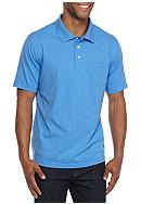 Saddlebred® Short Sleeve Solid Jersey Polo