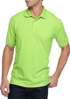 Saddlebred Short Sleeve Solid Pique Polo Shirt