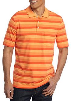 Saddlebred Easy Care Short Sleeve Striped Jersey Polo Shirt