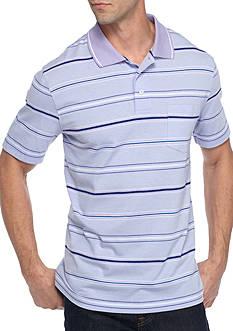 Saddlebred Short Sleeve Stripe Jersey Polo Shirt
