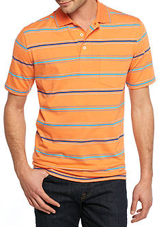 Saddlebred® Easy Care Short Sleeve Stripe Jersey Polo Shirt