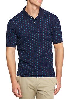 Saddlebred Short Sleeve Printed Pique Polo Shirt