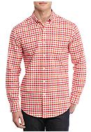 Saddlebred® Long Sleeve Single Pocket Gingham