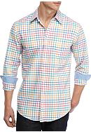 Saddlebred® Long Sleeve Plaid Oxford Shirt