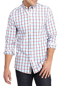 Saddlebred 1888 Long Sleeve Gingham Tailored Fit Oxford Shirt