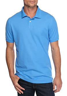 Saddlebred® 1888 Short Sleeve Fashion Tailored Solid Polo Shirt