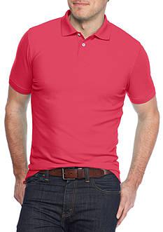 Saddlebred 1888 Short Sleeve Fashion Tailored Solid Polo Shirt