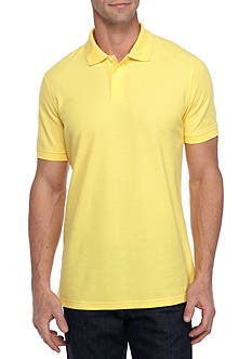 Saddlebred 1888 Short Sleeve Fashion Tailored Solid Polo Shirt