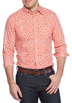 Saddlebred® 1888 Long Sleeve Tailored Poplin Print Shirt