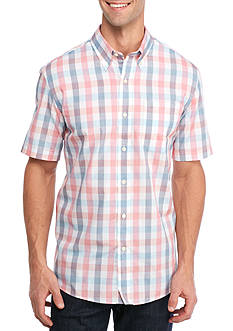 Saddlebred Short Sleeve Easy Care Plaid Shirt