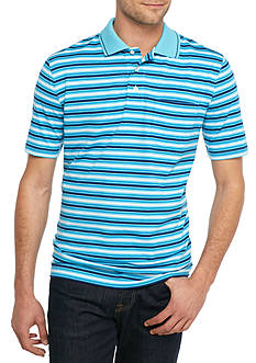 Saddlebred Short Sleeve Stripe Jersey Polo Shirt
