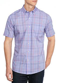 Saddlebred Short Sleeve Wrinkle Free Woven Shirt