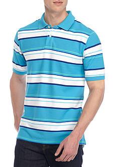 Saddlebred Short Sleeve Stripe Pique Polo