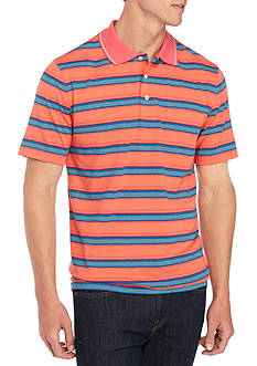 Saddlebred Short Sleeve Striped Jersey Polo