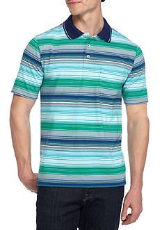 Saddlebred Short Sleeve Stripe Jersey Polo