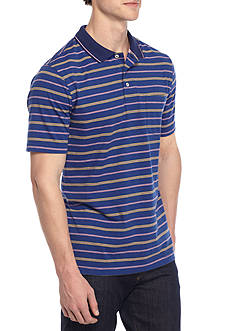 Saddlebred® Short Sleeve Stripe Jersey Polo