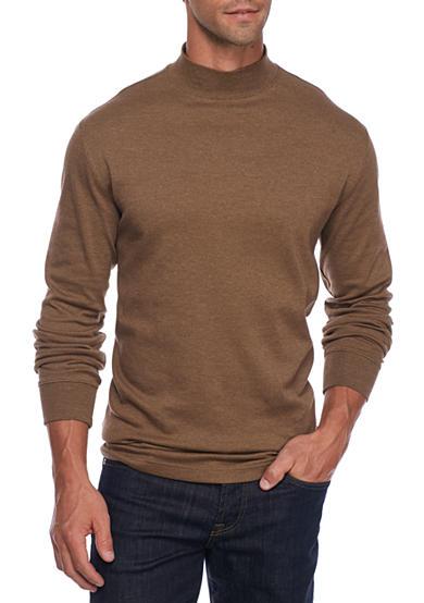 Saddlebred long sleeve mock neck shirt belk for Mens mock turtleneck shirts sale