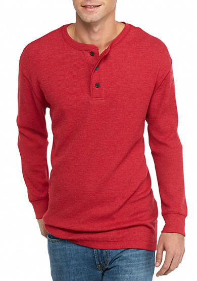 Saddlebred long sleeve thermal henley shirt belk for Men s thermal henley long sleeve shirts