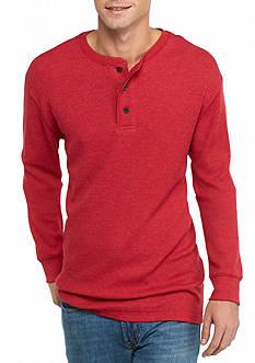 Saddlebred Long Sleeve Thermal Henley Shirt