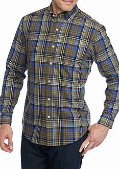 Saddlebred Long Sleeve Wrinkle Free Plaid Shirt