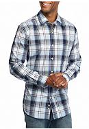 Saddlebred® Long Sleeve Medium Plaid Wrinkle
