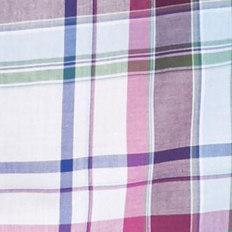 Men: Saddlebred Casual Shirts: White/Blue Saddlebred Long Sleeve Medium Plaid Wrinkle Free Shirt