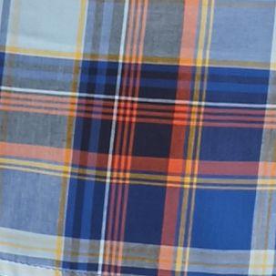 Men: Saddlebred Casual Shirts: Blue/Gold Saddlebred Long Sleeve Medium Plaid Wrinkle Free Shirt