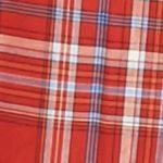 Men: Saddlebred Casual Shirts: Plaid Red Saddlebred Long Sleeve Wrinkle Free Medium Plaid Shirt