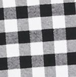 Saddlebred Men: Black/White Saddlebred Long Sleeve Gingham Plaid Oxford Shirt