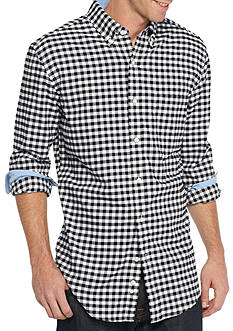 Saddlebred Long Sleeve Gingham Plaid Oxford Shirt