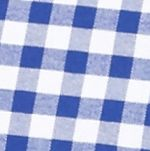 Saddlebred Men: Blue/White Saddlebred Long Sleeve Gingham Plaid Oxford Shirt