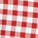 Saddlebred Men: Red/White Saddlebred Long Sleeve Gingham Plaid Oxford Shirt