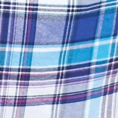 Men: Saddlebred Casual Shirts: White/Blue/Pink Saddlebred Long Sleeve Medium Plaid Oxford Shirt