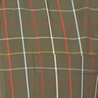 Men: Check & Plaid Sale: Olive Wind Saddlebred Long Sleeve Easy Care Woven Shirt