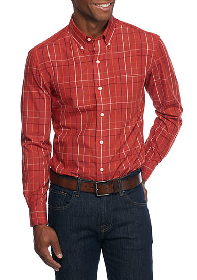 Saddlebred® Long Sleeve Easy Care Woven Shirt