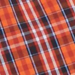 Men: Check & Plaid Sale: Orange/Red Saddlebred Long Sleeve Easy Care Woven Shirt