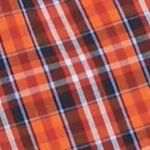 Orange Mens Long Sleeve Woven Shirts: Orange/Red Saddlebred Long Sleeve Easy Care Woven Shirt