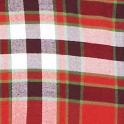 Men: Saddlebred Casual Shirts: Red/Green Saddlebred Long Sleeve Plaid Oxford Shirt