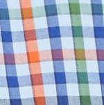 Men: Saddlebred Casual Shirts: Blue Multi Saddlebred Long Sleeve Small Gingham Easy Care Shirt
