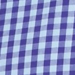 St Patricks Day Outfits For Men: Purple/Blue Saddlebred Long Sleeve Small Gingham Easy Care Shirt