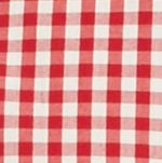Men: Check & Plaid Sale: Red/Khaki Saddlebred Long Sleeve Small Gingham Easy Care Shirt