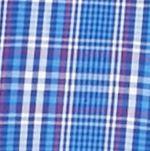 Men: Saddlebred Casual Shirts: Blue/Pink Saddlebred Long Sleeve Glen Plaid Easy Care Shirt