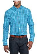 Saddlebred® Long Sleeve Glen Plaid Easy Care
