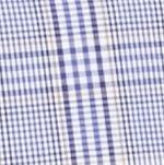 Men: Saddlebred Casual Shirts: Purple/White Saddlebred Long Sleeve Glen Plaid Easy Care Shirt
