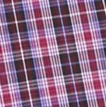 Men: Saddlebred Casual Shirts: Plum/Burgundy Saddlebred Long Sleeve Small Plaid Easy Care Shirt