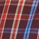 Men: Saddlebred Casual Shirts: Burgundy/Khaki/Blue Saddlebred Long Sleeve Small Plaid Easy Care Shirt